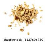 crunchy granola  muesli pile... | Shutterstock . vector #1127606780