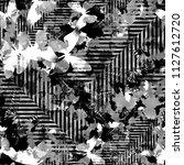 seamless pattern grunge design. ... | Shutterstock . vector #1127612720
