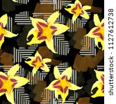 seamless pattern with... | Shutterstock . vector #1127612738