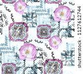 seamless pattern ethnic design. ... | Shutterstock . vector #1127612744