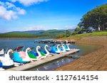 landscape of tuyen lam lake ...   Shutterstock . vector #1127614154