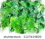 tropical  leaves pattern... | Shutterstock . vector #1127614820