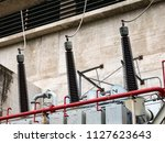 high voltage transformer | Shutterstock . vector #1127623643