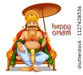 illustration of king mahabali... | Shutterstock .eps vector #1127628536