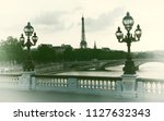 france. paris. view of the... | Shutterstock . vector #1127632343