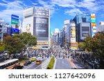 tokyo  japan november 12  2017  ... | Shutterstock . vector #1127642096