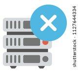 database server with cross sign ... | Shutterstock .eps vector #1127644334