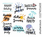 summer labels  logos  and... | Shutterstock .eps vector #1127651633