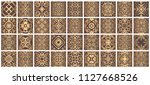 vector tiles patterns. seamless ... | Shutterstock .eps vector #1127668526