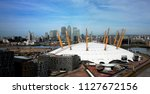 london   may 26  o2 arena and... | Shutterstock . vector #1127672156
