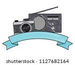 photographic camera and radio   Shutterstock .eps vector #1127682164