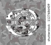 free shipping on grey... | Shutterstock .eps vector #1127686409