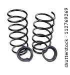 set of two car springs and... | Shutterstock . vector #112769269