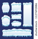 frozen ice frames. snow ice... | Shutterstock .eps vector #1127692886