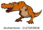 tyrannosaurus roar cartoon... | Shutterstock .eps vector #1127693828