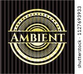 ambient shiny badge | Shutterstock .eps vector #1127693933