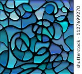 abstract vector stained glass... | Shutterstock .eps vector #1127699270
