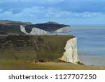 scenic view of white cliffs of... | Shutterstock . vector #1127707250