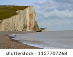 scenic view of white cliffs of... | Shutterstock . vector #1127707268
