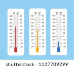 celsius and fahrenheit... | Shutterstock .eps vector #1127709299