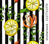 blossom floral seamless pattern.... | Shutterstock .eps vector #1127711570