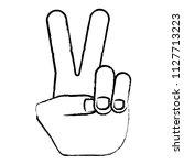 peace symbol design | Shutterstock .eps vector #1127713223