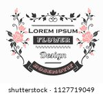 flower motif design sketch | Shutterstock .eps vector #1127719049