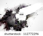 Stock vector abstract grunge artistic background forming by blots 112772296
