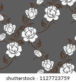 luxury seamless rose pattern | Shutterstock .eps vector #1127723759