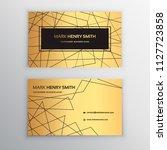 vector business card. luxury... | Shutterstock .eps vector #1127723858
