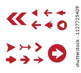 arrow icon set isolated on... | Shutterstock .eps vector #1127725409