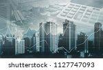 stock market or forex trading... | Shutterstock . vector #1127747093