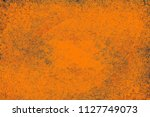 orange grunge background | Shutterstock . vector #1127749073