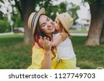 little cute child baby girl...   Shutterstock . vector #1127749703