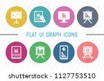 flat ui 8 color graph icon set. ...