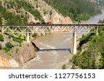 lillooet  british columbia ... | Shutterstock . vector #1127756153