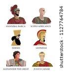 greatest generals of ancient... | Shutterstock .eps vector #1127764784