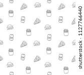 fast food. seamless pattern... | Shutterstock .eps vector #1127766440