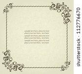 vintage frame  elegant design ... | Shutterstock .eps vector #112776670