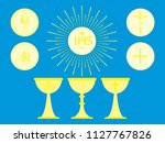 christian liturgical objects.... | Shutterstock .eps vector #1127767826