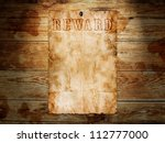 old western wanted poster on... | Shutterstock . vector #112777000