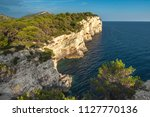 cliffs in telascica nature park ... | Shutterstock . vector #1127770136