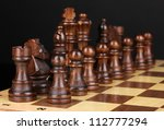 chess board with chess pieces... | Shutterstock . vector #112777294