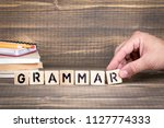 grammar. language  knowledge... | Shutterstock . vector #1127774333