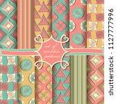 set of seamless vector... | Shutterstock .eps vector #1127777996