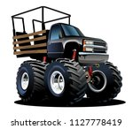 cartoon monster truck.... | Shutterstock .eps vector #1127778419