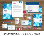 corporate identity business ... | Shutterstock .eps vector #1127787536