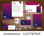 corporate identity business ... | Shutterstock .eps vector #1127787569