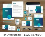corporate identity business ... | Shutterstock .eps vector #1127787590