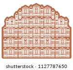 historical icon jaipur city  ... | Shutterstock .eps vector #1127787650